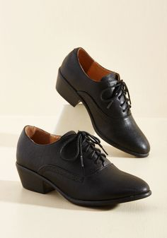 Engineer to the Mark Oxford Heel in Black in 7.5, #ModCloth