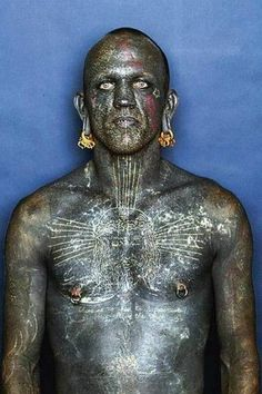 Lucky Diamond Rich was declared the most tattooed person in the world by the Guinness Book of World Records in 2006.