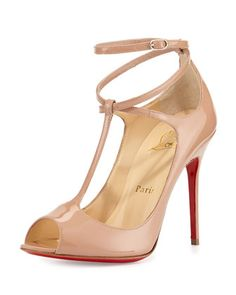 I absolutely love this nude T-Strap Pump,. It's so sexy, of course they are by Christian Louboutin.