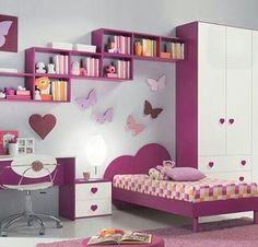 Repisas de madera y modernas para la pared espaciohogar for Disenos de cuartos para ninas sencillos