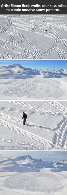 Funny pictures about Massive snow patterns. Oh, and cool pics about Massive snow patterns. Also, Massive snow patterns. Snow Art, Weird Art, Looks Cool, Installation Art, Love Art, Amazing Art, Awesome, Artsy Fartsy, Art Drawings