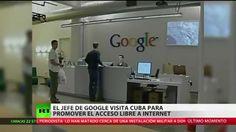 Presidente ejecutivo de Google visita Cuba