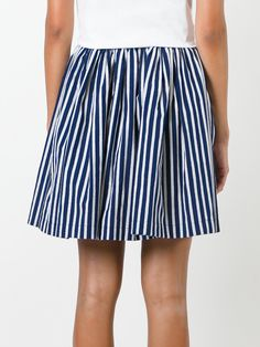 Shop Maison Kitsuné Striped A-line Skirt at Modalist | M0024000162831