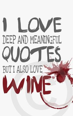 Wine Typography Art   __[Via Etsy by OhMyWordArt]