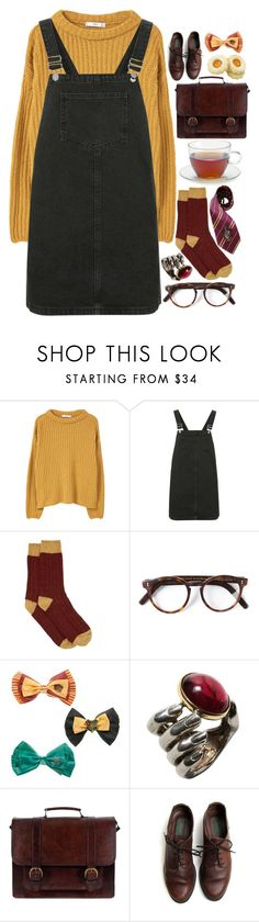 """""""Gryffindor"""" by authentically-absurd ❤ liked on Polyvore featuring MANGO, Topshop, Howlin', Cutler and Gross, Delettrez, Elope and Beara Beara"""