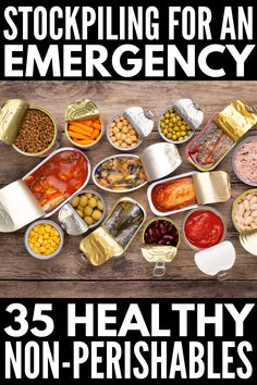 These healthy and tasty recipes with non perishable ingredients are perfect for emergency situations when access to fresh foods are limited! Emergency Preparedness Food, Emergency Food Supply, Emergency Preparation, Survival Food, Survival Prepping, Survival Shelter, Survival Skills, Hurricane Preparedness, Prepper Food