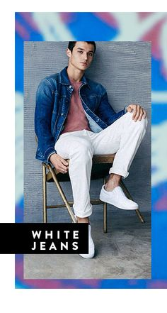 Men's Trend: Spring 2016 Trend Report > White Jeans | All The Rail at #Nordstrom #GreenHills #TN #Fashion #MichelleSchwantes