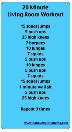 20 minute workout...the best thing about this workout is that there are no burpees included!!