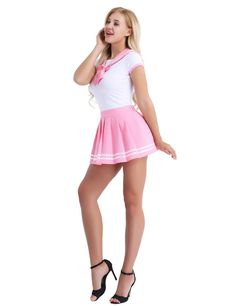 Buy 2 Colors Schoolgirl Cosplay Sexy Costumes Student Uniform Cosplay Student Uniform Dress Outfit Costumes at Wish - Shopping Made Fun Girly Outfits, Sexy Outfits, Dress Outfits, Cute Outfits, School Girl Outfit, School Uniform Girls, Pullover Shirt, Cute Girl Dresses, Girls In Mini Skirts