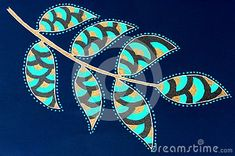 Photo about A bright coloured gel pen sketch of patterned leaves on a blue background. Image of card, decorative, decorations - 137611668 Pen Sketch, Gel Pens, Blue Backgrounds, Bright Colors, Leaves, Stock Photos, Drawings, Pattern, Cards