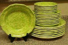 Mikasa Country Charm Broccoli Dinnerware Set by OrchidandSapphire,