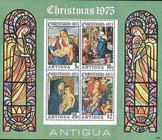 Antigua Stamp, 1975 WWF7512 Christmas 1975, Religion, Art
