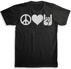 Peace Love And Rock n' Roll T Shirt  TriBlend by StrangeLoveTees, $24.99
