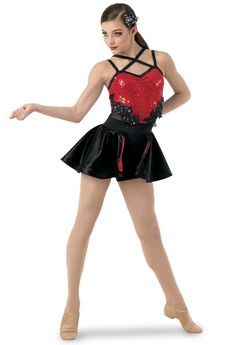 Weissman Aint No Other Man Red and Black Sequin Multi Strap Dance Outfit Sm Dance Costumes Tap, Belly Dancer Costumes, Dance Outfits, Dance Dresses, Costume Tribal, Baile Jazz, Royal Ballet, Salsa, Body Painting