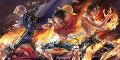 Anime One Piece  Portgas D. Ace Monkey D. Luffy Sabo (One Piece) Fondo de Pantalla
