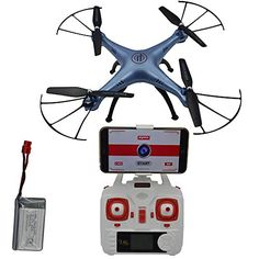 Blomiky Syma X5HW Altitude Hold Mode WIFI FPV Camera Drone RC Helicopter Quadcopter with 1 Extra Battery Blue ** Check out this great product.