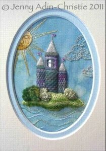 Jenny Adin-Christie Specialist Embroiderer Fairytale Castle (finished design size approx. 8x11cm)