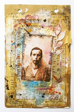 6 by czekoczyna, via Flickr Love the layering of papers