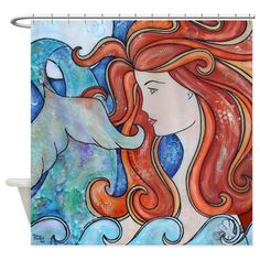 Mermaid Moon Shower Curtain on CafePress.com