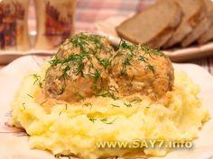 Тефтели в томатно-сметанном соусе  Meat balls in tomato-sour cream sauce  (in Russian)