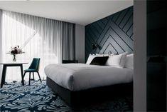 41 + Luxury Bedroom Design And Decorating Ideas - Home By X Luxury Bedroom Design, Hotel Room Design, Home Interior Design, Modern Interior, Trendy Bedroom, Modern Bedroom, Bedroom Black, Modern Headboard, Headboard Ideas