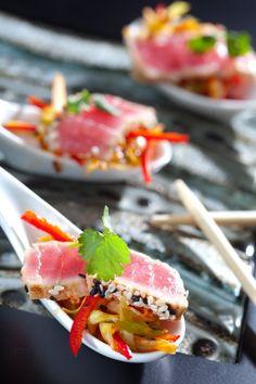 Seared Tuna Eat Healthy, Healthy Meals, Healthy Recipes, Fun Food, Good Food, Yummy Food, Cooking 101, Cooking Recipes, Yummy Recipes