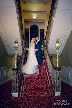 Donna & Frank, The Grand Hotel Malahide - Couple Photography Grand Hotel, Couple Photography, St Patricks Day, Weddings, Couples, Wedding Dresses, Lace, Fashion, Bride Dresses