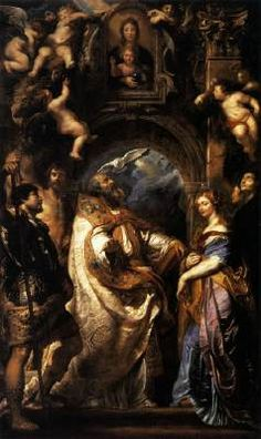 "baroque-art-appreciation: "" Saint Gregory with Saints Domitilla, Maurus, and Papianus, Peter Paul Rubens Size: cm Medium: oil, canvas"" Peter Paul Rubens, Catholic Art, Religious Art, Catholic Saints, Saint Grégoire, Rubens Paintings, Oil Paintings, Pierre Paul, Saint Esprit"