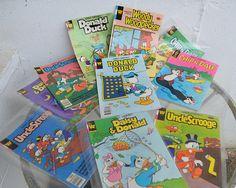 Vintage Comic Books, Vintage Comics, Uncle Scrooge, Woody Woodpecker, Walt Disney, Daisy, Prints, Green Woodpecker, Bellis Perennis