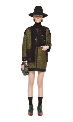 #MMissoni | Patchwork Green Jacket & Skirt | Fall 2013 Collection