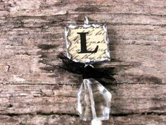 Monogram 1 Inch Pendant Glass Soldered by MablesGranddaughter, $17.00