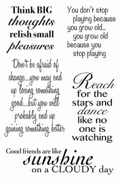 Woodware Something to Say Clear Magic Stamp Set Greeting Card Sentiments, Birthday Verses For Cards, Inspirational Rocks, Diy Christmas Gifts For Family, Card Sayings, Thing 1, Postive Quotes, Monogram Decal, Cards For Friends
