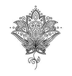 Persian paisley design vector 2195757 - by Seamartini on VectorStock®