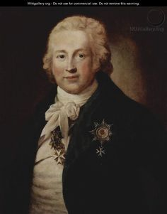 Christoph Johann Friedrich Medem (1763–1838), Privy Councillor in the Russian service, and Russian Ambassador to Washington (portrait 1796 by Anton Graff