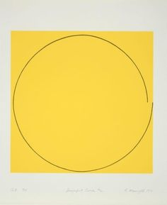 Imperfect Circle 1973 by Robert Mangold on Curiator, the world's biggest collaborative art collection. Yellow Art, Mellow Yellow, Contemporary Abstract Art, Modern Art, Good Day Sunshine, Arte Popular, Grafik Design, Geometric Art, Installation Art
