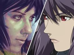 This Painting of Scarlett Johansson as Major Motoko from 'Ghost in the Shell' Has Won Me Over   moviepilot.com