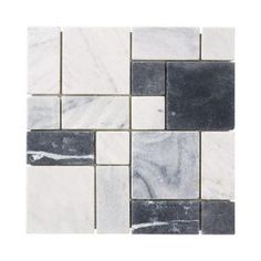 Jeffrey Court Carrara block Mosaics 12 in. x 12 in. Marble Kitchen Wall & Floor Tile $12