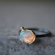 Opal & Diamond Ring by ATELIER Gaby Marcos