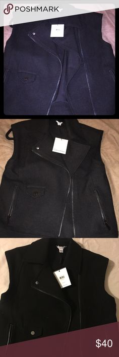 Calvin Klein women's black wool vest Never worn black XS Calvin Klein wool outerwear vest. Calvin Klein Jackets & Coats Vests