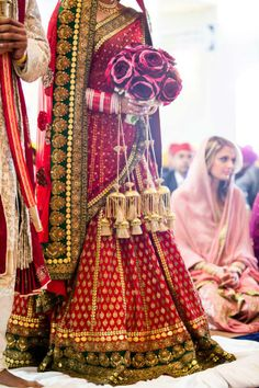Desi Weddings #indian #bridal wedding lehenga, red outfit