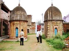 The temples of Ukhra, West Bengal The twin (Jora) Shiva Temples at Ukhra Durgabaari