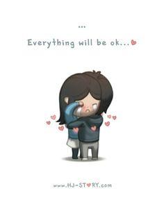 HJ-Story :: Everything Will Be OK aa en güzeli buymuş :) Hj Story, Cute Love Stories, Love Story, What Is Love, My Love, Ex Amor, Love Cartoon Couple, Everything Will Be Ok, Cute Love Cartoons