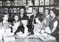 Laura Ingalls Wilder at a book signing