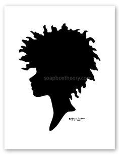 One of the ways I do that Is wear my natural curls as often as possible. African Artwork, African Paintings, Silhouette Clip Art, Silhouette Design, Natural Curls, Natural Hair Styles, Tribal Images, Homemade Bath Bombs, Stylish Tattoo