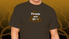 #funny #joke #humour #comedy #people #poo #emoji Animal Silhouette, Emoji, Classic T Shirts, Comedy, Surfing, Jokes, Stickers, Funny, People