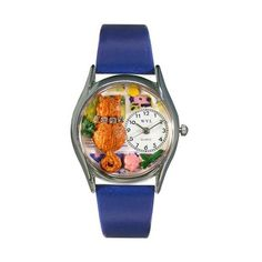 Aristo Cat Royal Blue Leather And Silvertone Watch