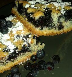 Čučoriedkový hrnčekový koláč