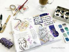Art Journaling tutorial - Gratitude Journal with Sherry Canino Canino's Artistic Cafe