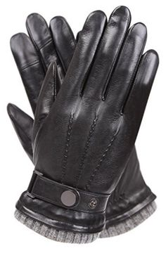 Men's Texting Touchscreen Winter Warm Nappa Leather Daily Dress Driving Gloves Wool/Cashmere Blend Cuff - Black (Cashmere&wool Blend Lining) 9 Leather Driving Gloves, Leather Gloves, Leather Men, Black Gloves, Best Winter Gloves, Oversized Fashion, Cold Weather Gloves, Dress Gloves, Men's Gloves