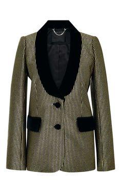 Velvet-Trimmed Metallic-Jacquard Blazer by Marc Jacobs Now Available on Moda Operandi